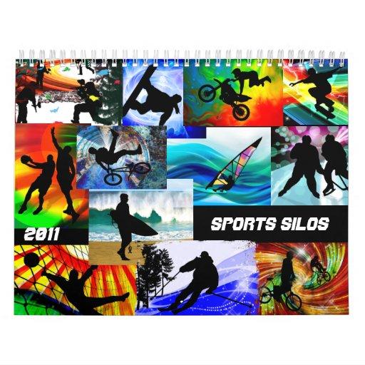 Sports Silhouettes Calendar