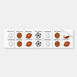 Sports Sippy Cup Labels