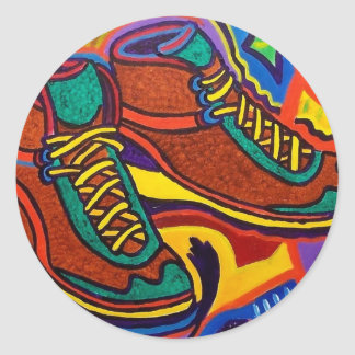 Sports Sneakers by Piliero Classic Round Sticker