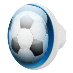Sports Soccer Ball Drawer Knobs Ceramic Knob