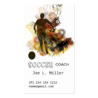 Sports Soccer Running Ball Urban Vector Double-Sided Standard Business Cards (Pack Of 100)