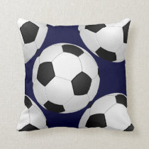 sports soccer throw pillow