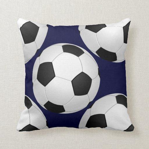 sports soccer throw pillow