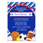 Sports Sport Baby Shower invitation Boy