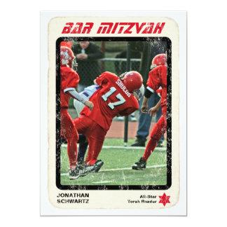 Sports Star Bar Mitzvah Invitation, Red 5x7 Paper Invitation Card