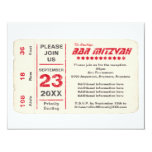 Sports Star Bar Mitzvah Reception Card, Red 4.25x5.5 Paper Invitation Card