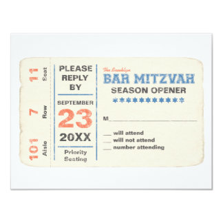 Sports Star Bar Mitzvah Reply Card