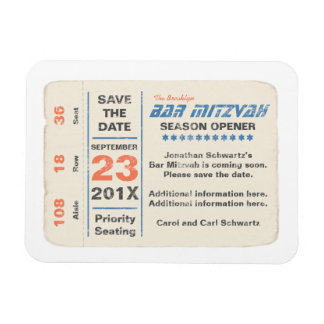 Sports Star Bar Mitzvah Save the Date Magnet