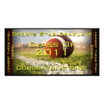 Sports Star (Football) - Graduation Card Custom Photo Card