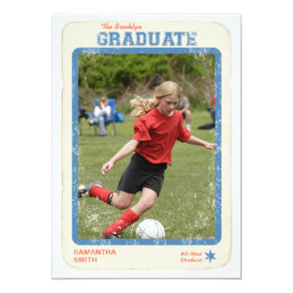 Sports Star Graduation Card