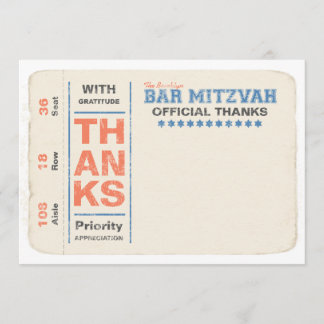 Sports Star Ticket Thank You Note