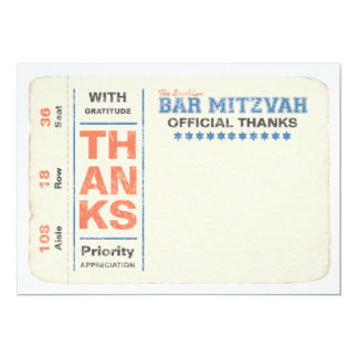 Sports Star Ticket Thank You Note Card