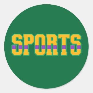 Sports Classic Round Sticker
