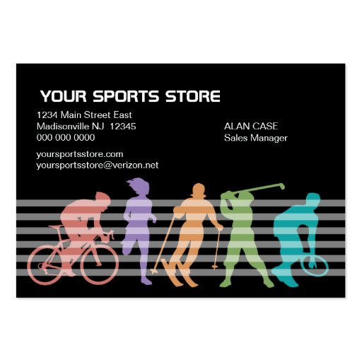 Sports Store business card