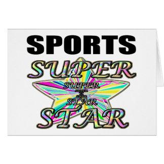 Sports Superstar Greeting Card