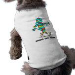 sports tape addict doggie tee shirt