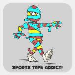 sports tape addict square sticker