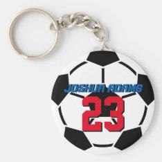 Sports Team Black White Soccer Ball Keychain at Zazzle