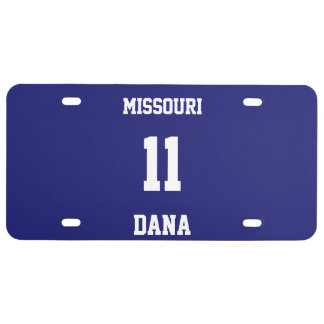 Sports Team Fan Custom Midnight Blue License Plate
