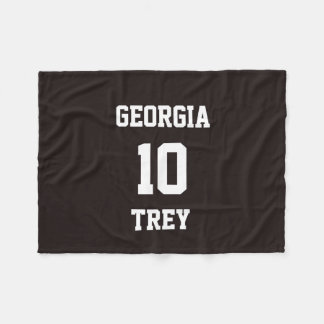 Sports Team Fan Personalized Licorice Fleece Blanket