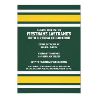Sports Team Football Jersey Custom Name Invitation
