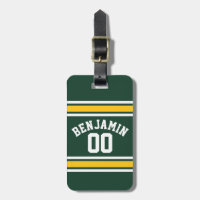 Sports Team Football Jersey Custom Name Number Bag Tag