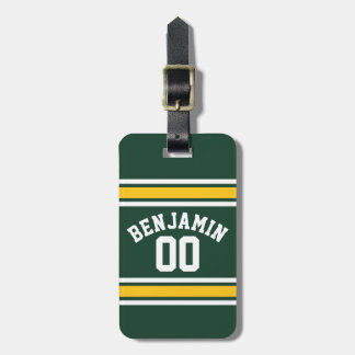 Sports Team Football Jersey Custom Name Number Bag Tag