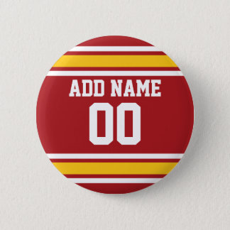 Sports Team Football Jersey Custom Name Number Button