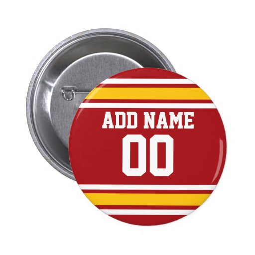 Sports Team Football Jersey Custom Name Number Buttons
