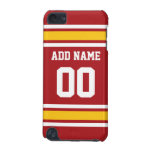 Sports Team Football Jersey Custom Name Number iPod Touch 5G Covers
