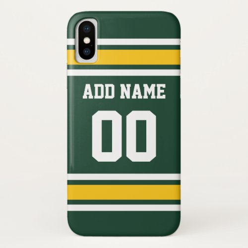 Sports Team Football Jersey Custom Name Number Phone Case