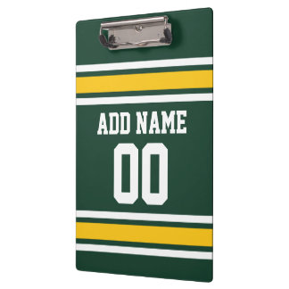 Sports Team Football Jersey Custom Name Number Clipboards