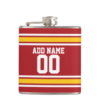 Sports Team Football Jersey Custom Name Number Flask