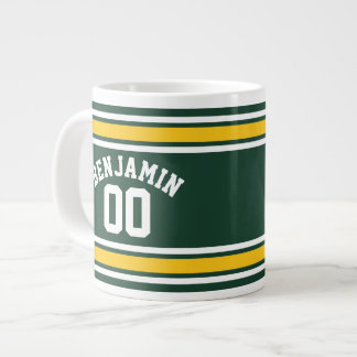 Sports Team Football Jersey Custom Name Number Giant Coffee Mug