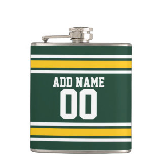Sports Team Football Jersey Custom Name Number Hip Flask