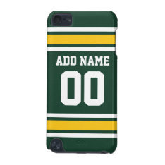 Sports Team Football Jersey Custom Name Number Ipod Touch (5th Generation) Cover at Zazzle