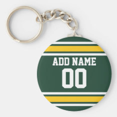 Sports Team Football Jersey Custom Name Number Keychain at Zazzle