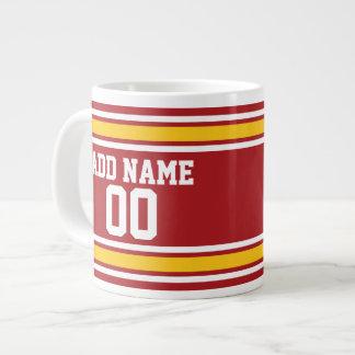 Sports Team Football Jersey Custom Name Number Large Coffee Mug