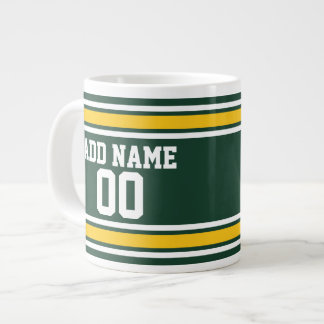 Sports Team Football Jersey Custom Name Number Large Coffee Mug