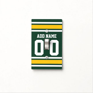 Sports Team Football Jersey Custom Name Number Switch Plate Cover