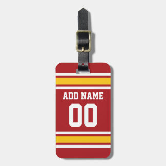 Sports Team Football Jersey Custom Name Number Luggage Tag