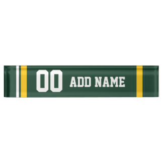 Sports Team Football Jersey Custom Name Number Desk Name Plate