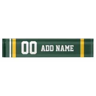 Sports Team Football Jersey Custom Name Number Nameplates