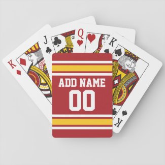Sports Team Football Jersey Custom Name Number Deck Of Cards