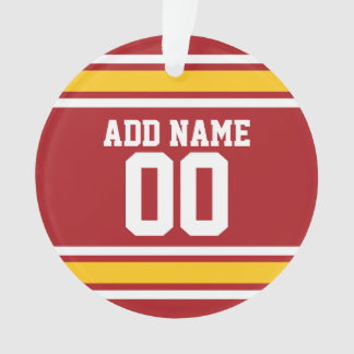 Sports Team Football Jersey Custom Name Number Ornament