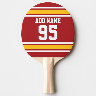 Sports Team Football Jersey Custom Name Number Ping-Pong Paddle