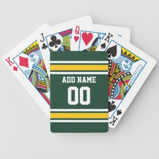 Sports Team Football Jersey Custom Name Number Card Decks