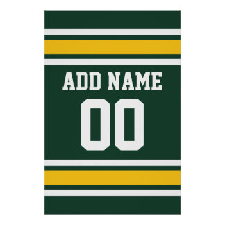 Sports Team Football Jersey Custom Name Number Poster