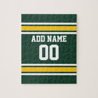 Sports Team Football Jersey Custom Name Number Puzzle