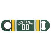 Sports Team Football Jersey Custom Name Number Speed Bottle Opener